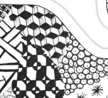 Zentangle Whale Sticker