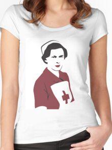Retro Red Cross Nurse Women's Fitted Scoop T-Shirt
