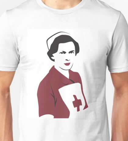 Retro Red Cross Nurse T-Shirt