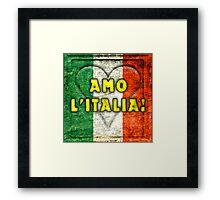 Amo L'Italia (I Love Italy) Framed Print