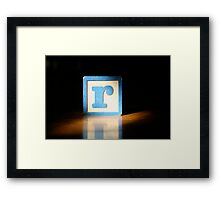 The Letter R Framed Print