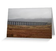The Ribble-head viaduct Greeting Card