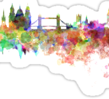 London skyline in watercolor on white background Sticker