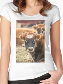 Cow 2 Women's Fitted Scoop T-Shirt