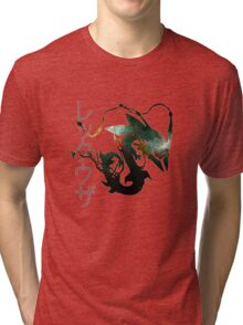 Mega rayquaza and space - White Version Tri-blend T-Shirt