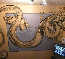 chinese dragon wall mural by alan  sloey