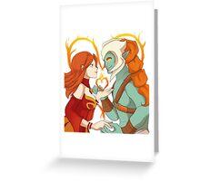 Dota 2 - Lina and Huskar Greeting Card