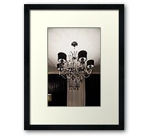 Chandelier with black shade Framed Print