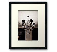 Chandelier with black shade Framed Print