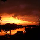 Orange Sun, Setting On One by Mary Ann Battle