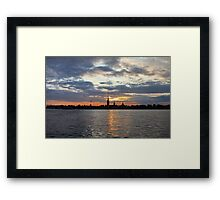 St. Petersburg silhouette of the city at night Framed Print