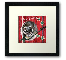 Happy Christmas wishes Framed Print