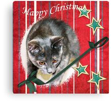 Happy Christmas wishes Canvas Print
