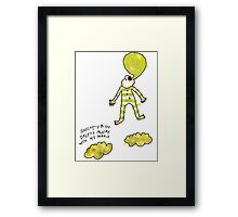 'Snotty Boy Bubbles' Framed Print