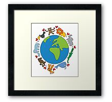 We Love Our Planet! Framed Print