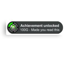 Achievement Unlocked Canvas Print