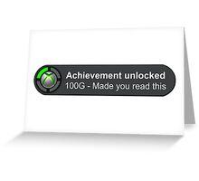 Achievement Unlocked Greeting Card