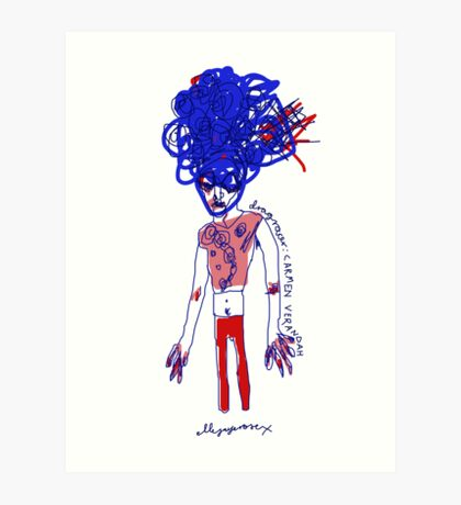 'Carmen Verandah' Art Print