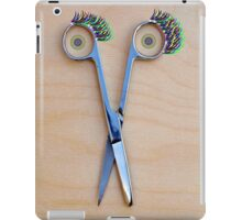 The smile of the scissors iPad Case/Skin