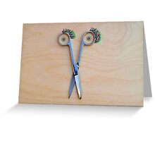The smile of the scissors Greeting Card