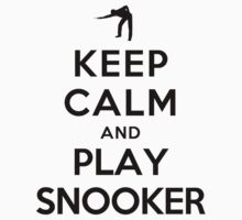 Keep Calm and Play Snooker Kids Clothes