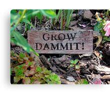 Gardening Directions #2 Canvas Print