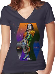 dr sax Women's Fitted V-Neck T-Shirt