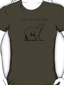 I Love You Polar Bears T-Shirt