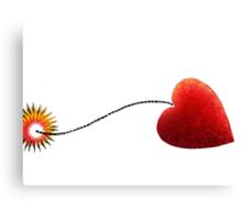 Heart on a fuse Canvas Print