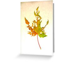 Somebody had Leaf for Lunch – Green Three Greeting Card