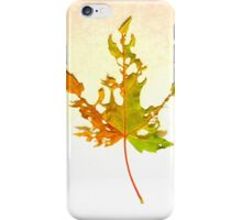 Somebody had Leaf for Lunch – Green Three iPhone Case/Skin