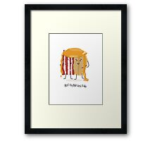 Bacon and Pancake = best friends Framed Print