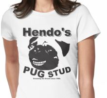 Hendos PUG STUD Womens Fitted T-Shirt
