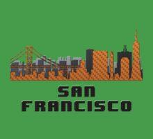 Golden Gate Bridge San Francisco California Skyline Created With Lego Like Blocks One Piece - Short Sleeve
