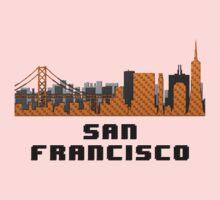 Golden Gate Bridge San Francisco California Skyline Created With Lego Like Blocks One Piece - Long Sleeve