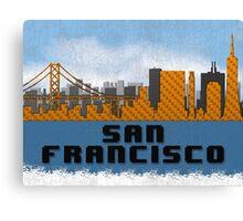 Golden Gate Bridge San Francisco California Skyline Created With Lego Like Blocks Canvas Print