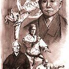 Gichin Funakoshi by Alleycatsgarden