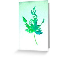 Somebody had Leaf for Lunch – Green Two Greeting Card