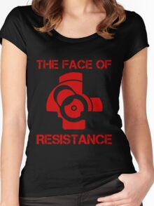 The (bolt) Face of Resistance Women's Fitted Scoop T-Shirt