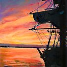 San Diego Harbor Sunset by Riccoboni by RDRiccoboni