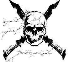 Skull & Swords design by Kuauh
