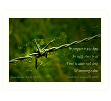 Collaboration ~ Beauty and the Barbed Wire Art Print