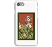 Cavalier Spaniel in the garden iPhone Case/Skin