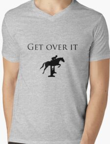 Hunter Jumper - Get Over It Mens V-Neck T-Shirt