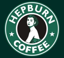 Audrey Hepburn Starbucks  by icedtees