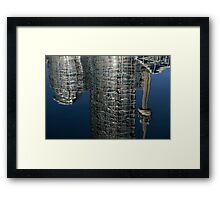 Upside Down Toronto Abstract Framed Print