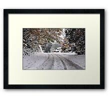 The way through Framed Print