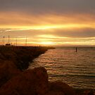 Sunset over Freo by Darryl Beer