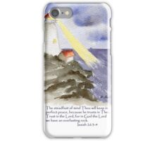 Peace, Isaiah 26:3-4 iPhone Case/Skin