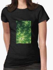 Glowing Green Fractal Womens Fitted T-Shirt